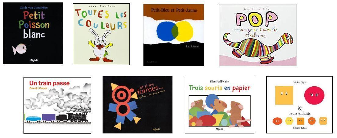 Capture livres couleurs formes